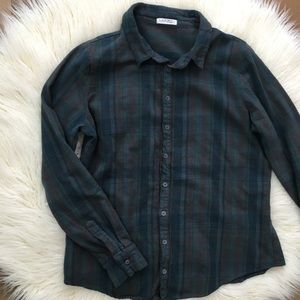 FREE PEOPLE CP SHADES BUTTON DOWN FLANNEL SHIRT L